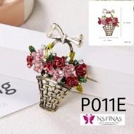 P011E (Red basket flower)