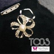 Silver flower clip