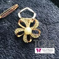 Flower rosegold clip