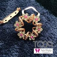 Flower pink clip
