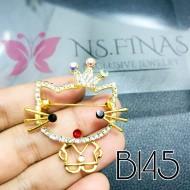 B145 (HELLO KITTY CROWN GOLD)