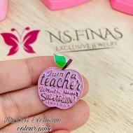 BROOCH EXCLUSIVE TEACHER SMALL APPLE PINK