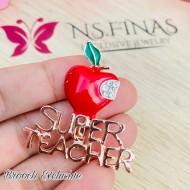 BROOCH EXCLUSIVE SUPER TEACHER SMALL APPLE