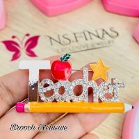 BROOCH EXCLUSIVE TEACHER PENCIL