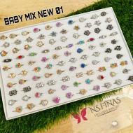 BABY BROOCH MIX 100PCS 01
